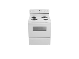 Acr4530baw Monochromatic White Amana 4.8 Cu Ft Exposed Bake 2 8in 2 6in Coil Std Window Storage Drawer 2 Racks High Temp Self Clean Clock Range ACR4530BAW,0883049284781,883049284781