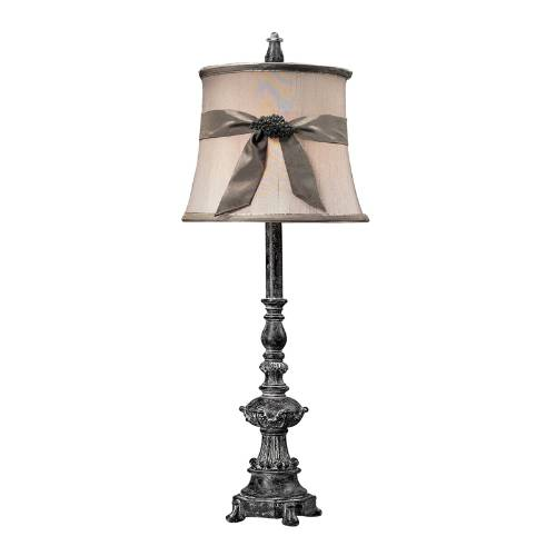 93-10000 Diamondblack Buffet Lamp With Brooch MFGR VENDOR: ELK,PRCH VENDOR: ELK,