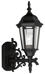 P5681-31 Welbourne 6.500 X 9.675 X 16.625 1 Lt Textured Black Clear Glass Wall Lantern CAT731,P5681-31,P5681-31,785247568116