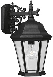 P5683-31 Welbourne 9.375 X 11.250 X 16.000 1 Lt Textured Black Clear Glass Wall Lantern CAT731,P5683-31,P5683-31,785247568321