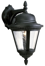 P5863-31 Westport 9.000 X 10.375 X 16.000 1 Lt Textured Black Clear Glass Wall Lantern CAT731,P5863-31,785247134649