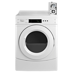 Ced9050aw Whirlpool White Front Load Washer And Dryer-coin Kit 6.7 Cu Ft Cap Electric Dryer Micro Processor Front Controls V8 Coin Slide Installed CED9050AW,883049353623