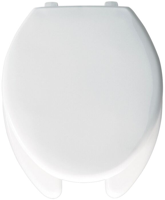 Bemis Manufacturing Company - 1950 Bemis Top-tite White Plastic Elongated Closed Front With Cover Toilet Seat #BEM1950000