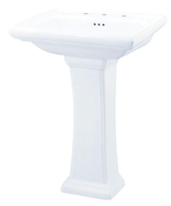 Gerber Plumbing Fixtures Llc G0029847 White Logan Square 11 3 4 X 7 1 2 28 Pedestal Base Only Gerg0029847