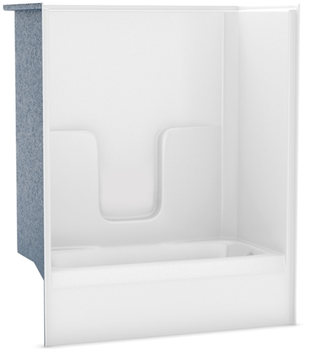 maax - 141000-l-000-002 aker white 5 left hand alcove gelcoated