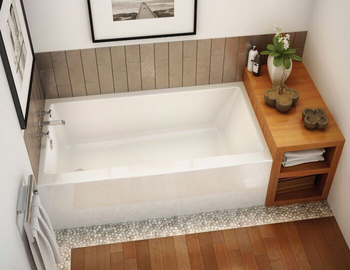 105705 R 000 001 Maax Rubix White 5 Ft Right Hand Alcove Bathtub