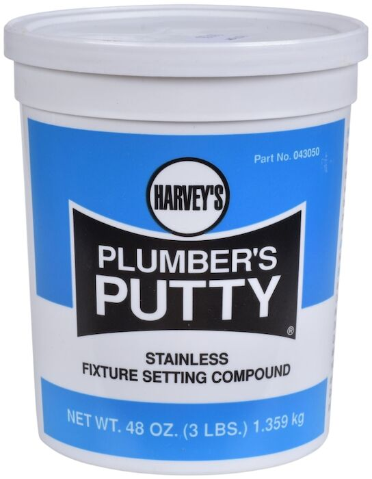 Oatey - 043050 Harvey Hv Plumbers Putty 3-lb Cup #19500800