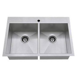 18db.9332211.075 Edgewater 33x22 Db Dual Mount Sink, 1h CAT108,18DB9332211075,791556101128,18DB9332211075,