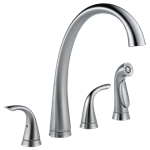 2480-ar-dst Delta Pilar Ada Arctic Stainless Lf 6 To 16 In Widespread 4 Hole 2 Handle Kitchen Faucet Side Spray CAT160FOC,2480-AR-DST,034449642224,34449642224,