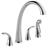 2480-dst Delta Pilar Ada Pol Chrome Lf 6 To 16 In Widespread 4 Hole 2 Handle Kitchen Faucet Side Spray CAT160FOC,2480-DST,034449642200,34449642200,