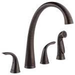 2480-rb-dst Delta Pilar Ada Ven Bronze Lf 6 To 16 In Widespread 4 Hole 2 Handle Kitchen Faucet Side Spray CAT160FOC,2480-RB-DST,034449642217,34449642217,
