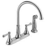2497lf-ar Delta Cassidy Ada Arctic Stainless Lf 8 In Centerset 4 Hole 2 Handle Kitchen Faucet Side Spray CAT160FOC,2497LF-AR,2497LF-AR,034449685313,34449685313,