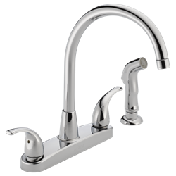 Chrome Lf Peerless Two Handle Kitchen Faucet CAT160PE,P299578LF,034449652216,34449652216,