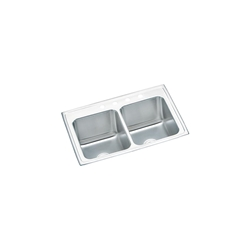 18 Gauge Stainless Steel 33x22x10.125 Double Bowl Top Mount Kitchen Sink CAT140C,DLR3322103,DLR,094902124384,DLR3322,14002620,94902007090