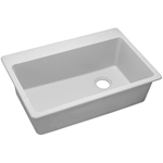 Elg13322wh Elkay White Quartz Classic 33in X 22in X 9.5in Single Bowl Top Mount Kitchen Sink CAT140G,ELG13322WH0,94902030647,QUARTZ CLASSIC