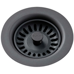 Lkqs35gy Elkay Polymer Drain Fitting W/ Removable Basket Strainer And Rubber Stopper - Dusk Gray CAT140,LKQS35GY,94902093970