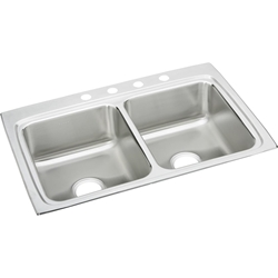 18 Gauge Stainless Steel 33x22x8.125 Double Bowl Top Mount Kitchen Sink CAT140C,LR33224,SINKS,LR33224,LR33224,LR33224,94902039206,LR33224,LR,094902039206,00094902039206,00094902039190,LR3322,NNNN:PRD0135902,NNNN:PRD0173511,NNNN:LR33224,NNNN:LRQ33224,14006209