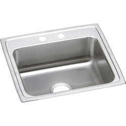 18 Gauge Stainless Steel 22x19.5x6 Single Bowl Top Mount Kitchen Sink CAT140C,LRAD2219603,LRAD,LRAD2219,NNNN:LRAD2219603,00094902172217,MFGR VENDOR: ELKAY,PRCH VENDOR: ELKAY,94902172217