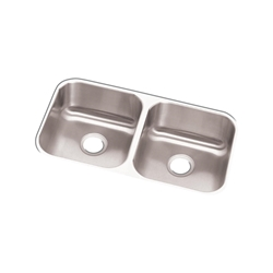 "18 Gauge Stainless Steel 31.75"" X 18.25"" X 8"" Double Bowl Undermount Kitchen Sink CAT141,94902067162,RCFU3118,DUS"