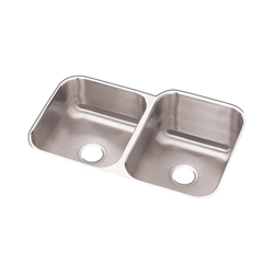 "18 Gauge Stainless Steel 31.75"" X 20.5"" X 10"" Double Bowl Undermount Kitchen Sink CAT141,94902067193,RCFU312010L,DSU"