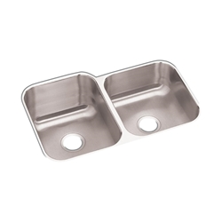 "18 Gauge Stainless Steel 31.75"" X 20.5"" X 10"" Double Bowl Undermount Kitchen Sink CAT141,94902067209,RCFU312010R,DUS"