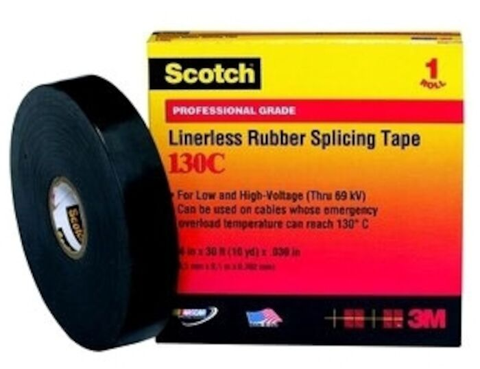 130c-1-1/2x30ft 3m Scotch Black Rubber Insulation Tape CAT721,CN130C,S130CJ30,130J,130C,ETS,S130C,05400741718