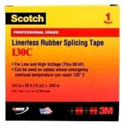 130c-3/4x30ft 3m Scotch Black Rubber Insulation Tape CAT721,S130C3430,130F,130C,ETS,3MST,3MS130C3430,S130C,05400741717