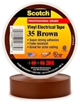 35-brown34 3m 3/4 X 66 Brown Vinyl Electrical Tape CAT721,S3566BRN34,35BRNF,35BROWN,ETBR,BRET,ET,3METBN,3M-10885,005400710885,