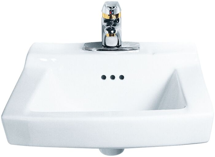 A/s Comrade White 3 Hole Wall Mount Bathroom Sink CAT111C,0124131,0124131020,0124,0124020,00255880999999,ASWHL,033056038109