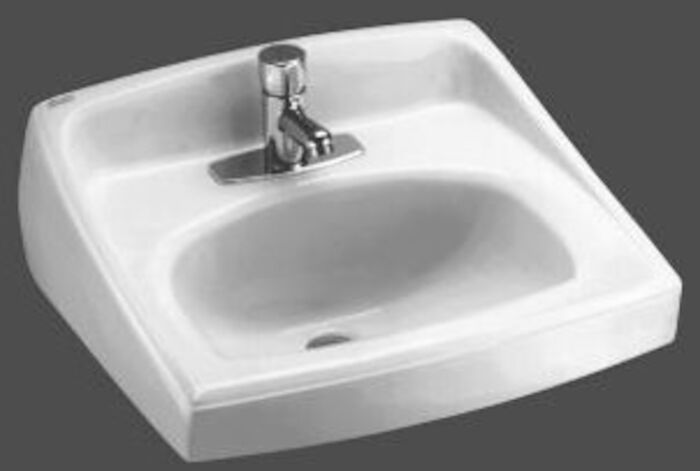 A/s Lucerne White 1 Hole Wall Mount Bathroom Sink CAT111C,0356421,20310,K2031WH,20310,K23310,0356421020,0356,0356020,033056044056