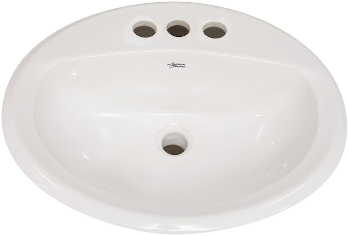A/s Aqualyn White 1 Hole Counter Top Bathroom Sink CAT111C,0475047020,0475047,0475,0475020,00338070999999,033056033807