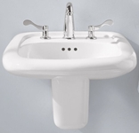 0954004ec020 A/s Murro White 3 Hole Wall Mount Bathroom Sink CAT111C,0954.004EC.020,0954004EC020,0954000020,0954.000.020,791556017696,
