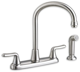 4275551002 As Colonysoft Ada Pol Chrome Lf 8 In Centerset 3 Hole 2 Handle Kitchen Faucet Color Matched Handspray CAT117E,4275551002,4275551,942611329036,30012611329037,4275,ASKSF,green,WATER EFFICIENT,C4K,7074551002,7074.551.002,012611487743,012611329036