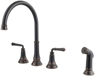 4279701278 As Delancey Ada Legacy Bronze Lf 8 In Widespread 3 Hole 2 Handle Kitchen Faucet Color Matched Side Spray CAT117L,4279701278,012611597022