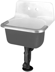 A/s Akron White 2 Hole Wall Mount Bathroom Sink CAT106,7695008,7695008020,866,866WH,6716-0,K6716WH,K6716,K6716-0,C2420,C2420WH,033056567531,