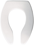 1655ct Bemis Sta-tite White Plastic Elongated Open Front Without Cover Toilet Seat CAT180P,073088029409,10203578,18204156,18200709,18107500,18006106,18005405,04413775,1655CWH,1655WH,20073088029403,T325141265000,1655CT000,1655CT,1655C,18005405,OFS,A5901115020
