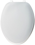170 Bemis Top-tite White Plastic Elongated Closed Front With Cover Toilet Seat CAT180P,073088057204,170 SEAT,170000