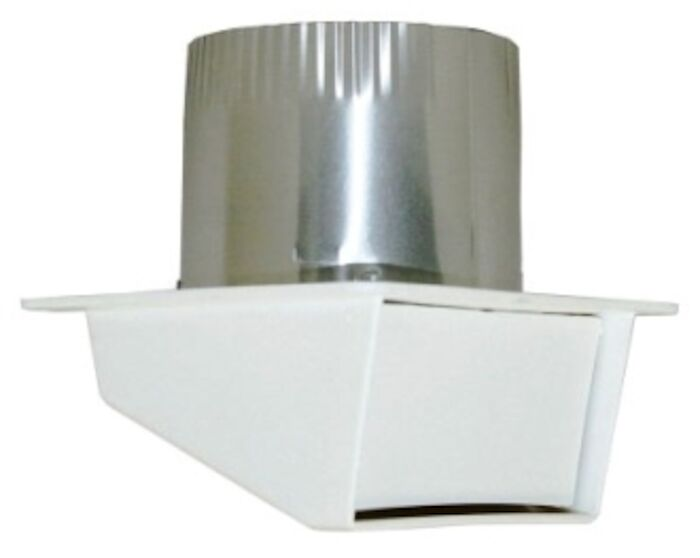 111804 Builders Choice 4 White Locking Ring Eave Vent Hood CAT305,111804,722048118041