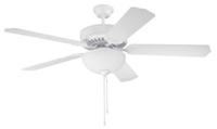 C201w Pro Builder 201 52 Ceiling Fan 4643 Cfm White ( Motor Only ) CAT719,C201W,647881119348