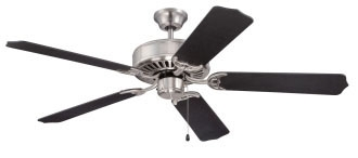 C52bnk Pro Builder 52 Ceiling Fan 4659 Cfm Brushed Polished Nickel ( Motor Only ) CAT719,C52BNK,647881119294