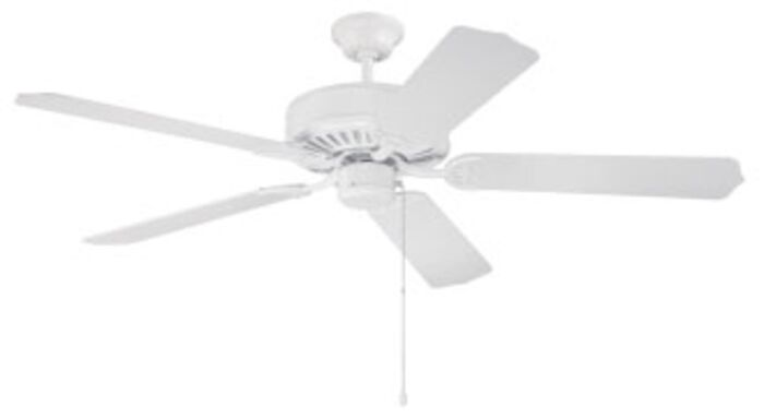 C52w Pro Builder 52 Ceiling Fan 4659 Cfm White ( Motor Only ) CAT719,C52W,647881010812