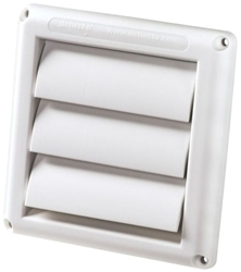 /12 Deflecto Supurr-vent White 5 Dryer Vent Hood CAT305,HS5W,079916011349,