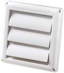 Hs6w/12 6 In White Louver CAT305,HS6W/12,HS6212,