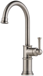 Brizo Artesso Brilliance Stainless Ada Lf 1 Hole 1 Handle Bar/prep Faucet CAT160BR,61025LF-SS,034449734806