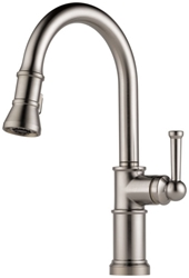 Brizo Artesso Ada Stainless Lf 1 Hole 1 Handle Kitchen Faucet Pull Down CAT160BR,63025LF-SS,034449734882