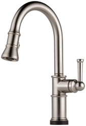 Brizo Artesso Ada Stainless Lf 1 Hole 1 Handle Kitchen Faucet Pull Down CAT160BR,64025LF-SS,034449734929