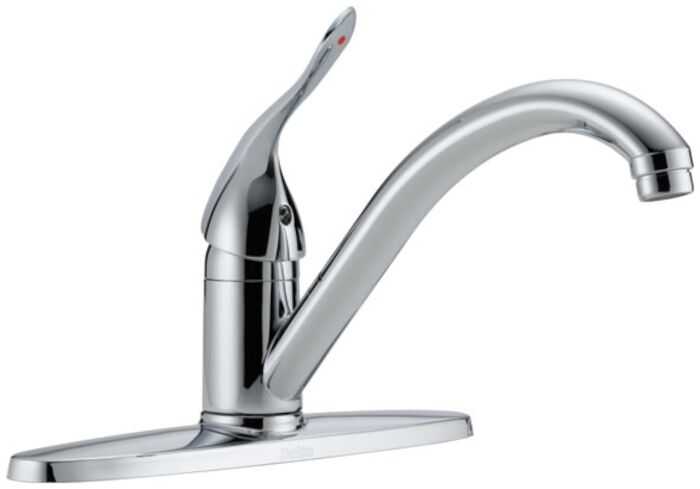 100lf-hdf Delta Polished Chrome Ada 8 In Centerset 3 Hole 1 Handle Kitchen Faucet CAT160H,100LF-HDF,034449643870,