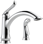 4453-dst Delta Linden Ada Polished Chrome Lf Single Hole 2 Hole 1 Handle Kitchen Faucet With Spray CAT160,4453-DST,034449602990,green,DELTA GREEN,34449602990
