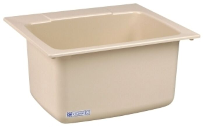10bn Bone 25x22x133/4 Self-rimming Utility Sink CAT124,10BN,671031000064,10BN,12401495