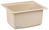 10bn Bone 25 In X 22 In X 13-3/4 In Molded Fiberglass Countertop Laundry Sink CAT124,10BN,671031000064,10BN,12401495